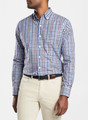 Baker Island Multi-Gingham Sport Shirt Sport Shirt in Cascade Blue by Peter Millar