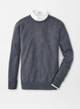 Crown Soft Crew Sweater in Charcoal by Peter Millar