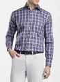 Crown Soft Crestline Plaid Sport Shirt in Blackberry by Peter Millar