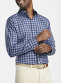 Crown Ease Stretch Ambler Plaid Sport Shirt in Navy by Peter Millar