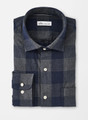 Mountainside Kenton Buffalo Check Sport Shirt in Navy by Peter Millar