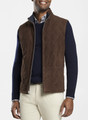 Reversible Suede Vest in Chocolate by Peter Millar