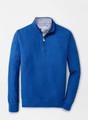 Crown Comfort Interlock Quarter-Zip in Blue Lapis by Peter Millar