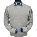 Baby Alpaca Stitch Link Sweatshirt Style Sweater in Light Grey Heather by Peru Unlimited