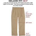 Original Twill Pant in Khaki (Model M1P, Size 34X30.5)by Bills Khakis