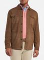 Suede Shirt Jacket in Light Brown by Peter Millar