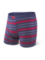 Ultra Boxer Brief in Navy Summit Stripe by SAXX Underwear Co.
