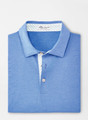 Solid Mélange Performance Polo in Cape Blue by Peter Millar
