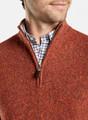 Donegal Quarter-Zip Sweater in Burnt Orange by Peter Millar