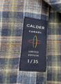 Luxury Flannel Melange Twill Sport Shirt in Cocoa by Calder Carmel