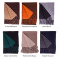 Merino Wool and Cashmere Double Faced Scarf in Choice of Colors by Alashan Cashmere