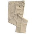 Vintage Twill Pant - Model F2 Standard Fit Plain Front in Khaki by Hansen's Khakis