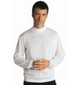 Techno-Cotton Mock Turtleneck in White by St. Croix