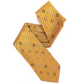 Gold Geometric 'English Woven' Seven Fold Silk Tie by Robert Talbott