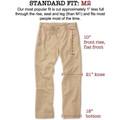 Vintage Twill Pant - Model M2 Classic Fit Plain Front in British Khaki by Bills Khakis
