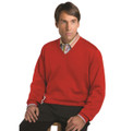 Techno-Cotton Milano Rib V-Neck in Red (Size X-Large) by St. Croix