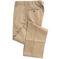 Vintage Twill Pant - Model F2 Standard Fit Plain Front in British Tan (Size 46 Only) by Hansen's Khakis