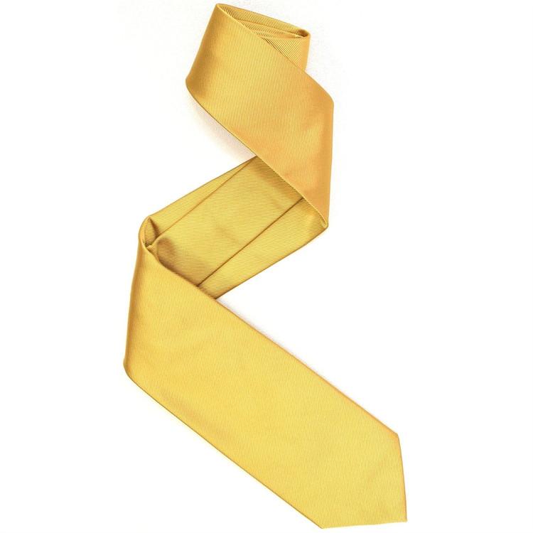 Silk Faille Tie in Gold by Robert Jensen