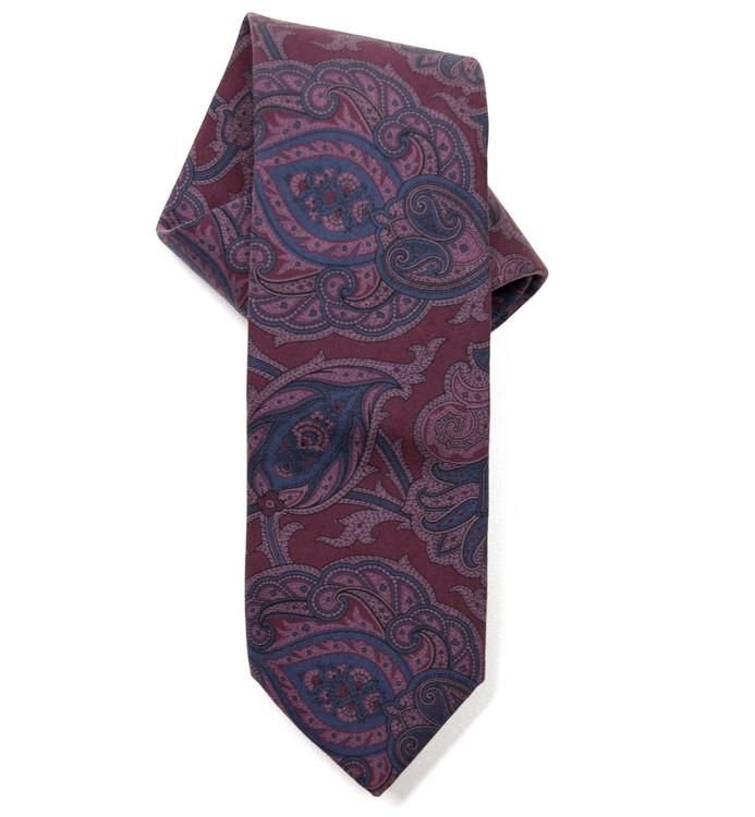 c581a9e799fd Best of Class Purple and Blue Paisley Matte Finish Silk Tie by Robert  Talbott