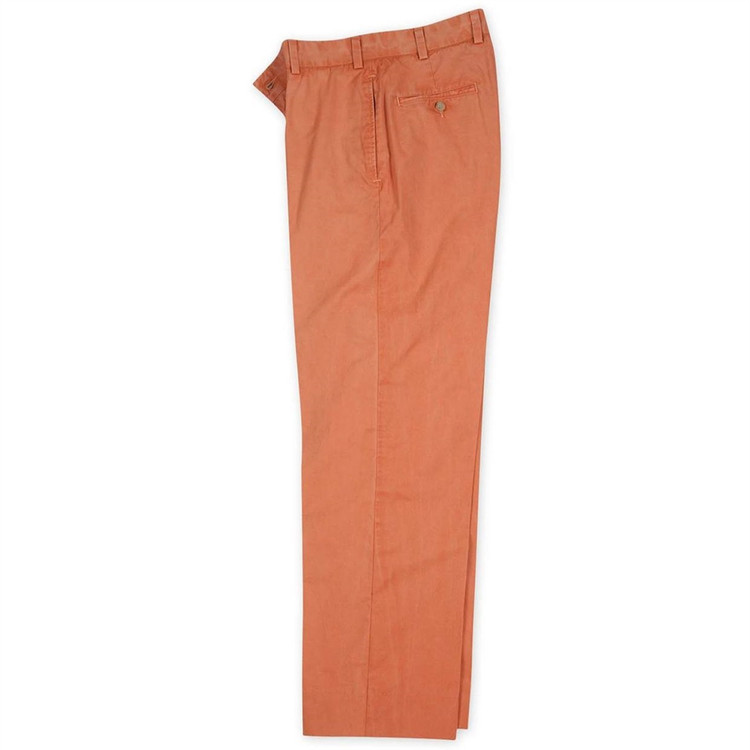 Sunbleached Twill Pants in Coral (Model M3, Size 30) by Bills Khakis