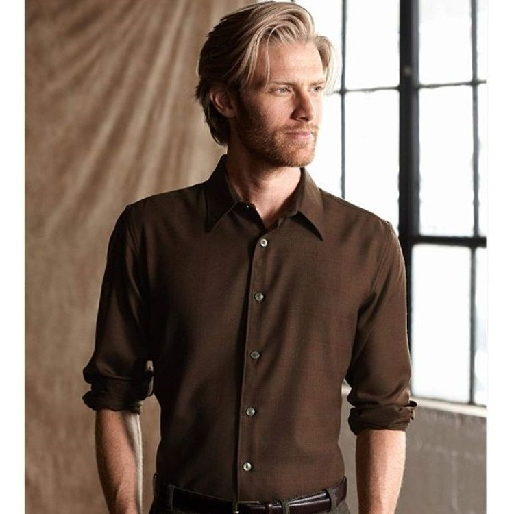 Jasper Shirt in Brown Herringbone (Thomas Kay Collection) by Pendleton
