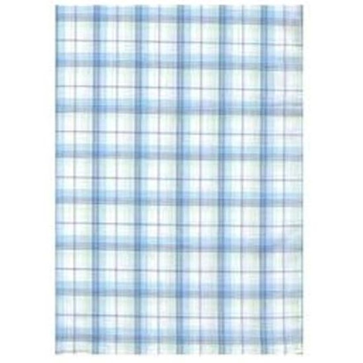 Plaid Silk Pocket Square in Aqua by Robert Talbott