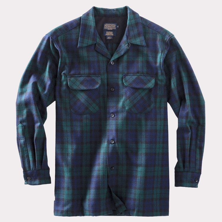 Black Watch Tartan Board Shirt by Pendleton