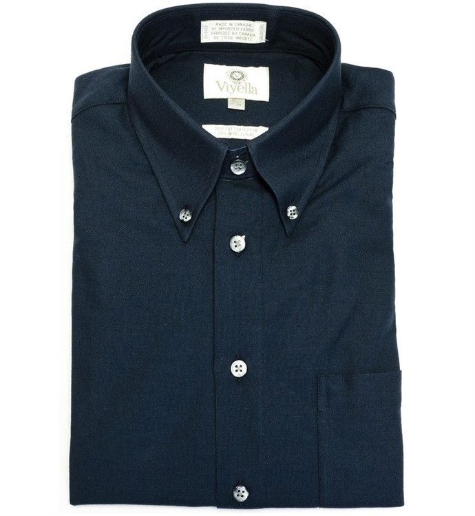Navy Button-Down Shirt by Viyella