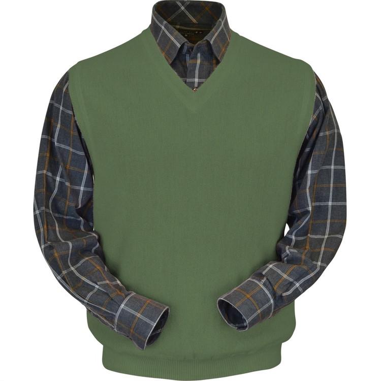 Baby Alpaca Link Stitch Sweater Vest in Sage by Peru Unlimited