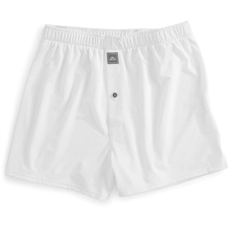 Solid Stretch Jersey Performance Boxer in White (Waist Sizing) by Peter Millar