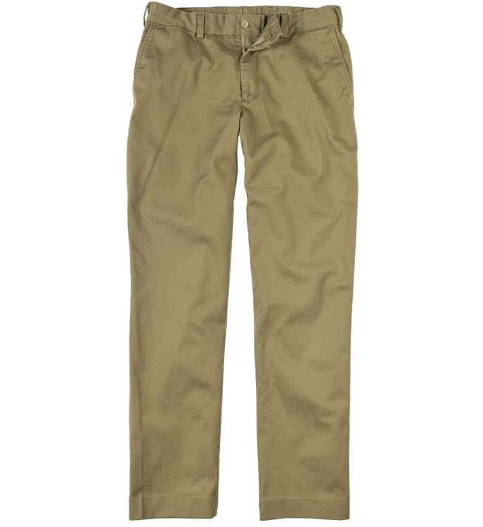Engineered Stretch Twill Pant - Model M2 Standard Fit Plain Front in Dark Khaki by Bills Khakis