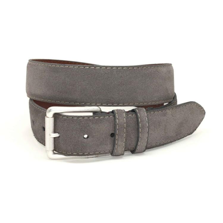 European Sueded Calfskin Belt in Slate by Torino Leather Co.