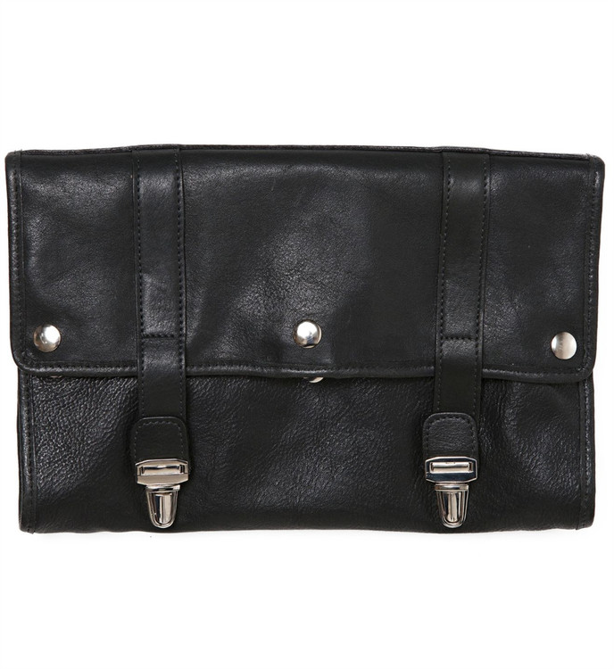 Austin Hanging Dopp Kit in Titan Milled Gunmetal by Moore & Giles