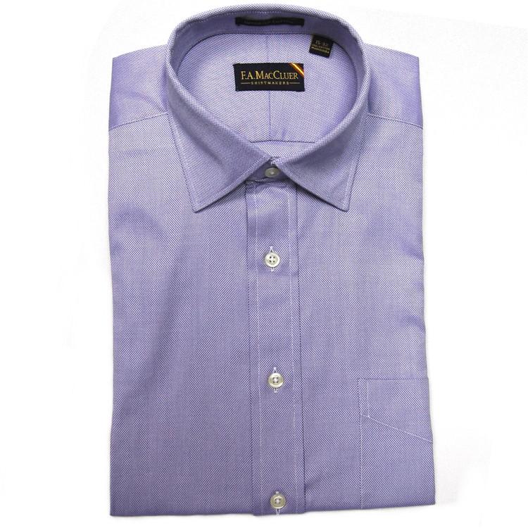 Blue 80's 2-Ply Royal Oxford Dress Shirt (Size 14 1/2 - 33) by F.A. MacCluer
