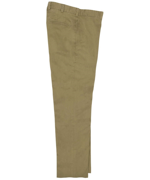 Engineered Stretch Twill Pant - Model M3 Trim Fit Plain Front in Dark Khaki by Bills Khakis