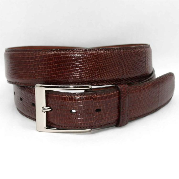Genuine Lizard Belt in Cognac by Torino Leather Co.