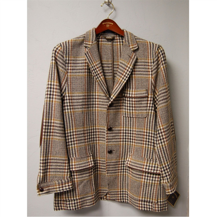 Farmington Wool Brandywine Jacket in Multi Brown Houndstooth (Size Large) by Bills Khakis