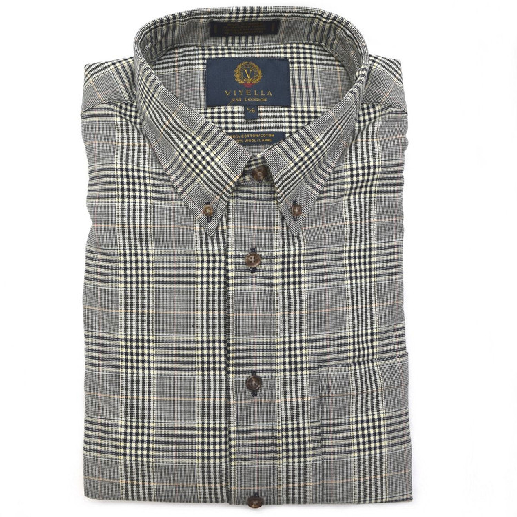 Navy Glen Plaid Button-Down Shirt by Viyella
