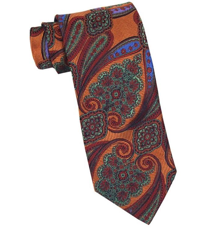 4a5715d5b7ca Best of Class 'Savile Row' Paisley Woven Silk Tie in Orange by Robert  Talbott