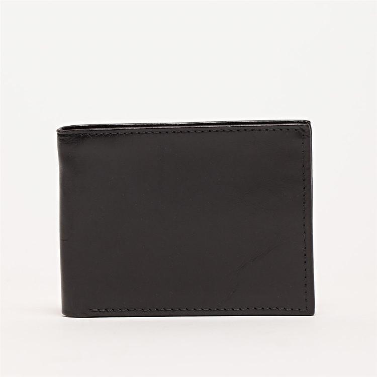 Bi-Fold Wallet in Brompton Black by Moore & Giles