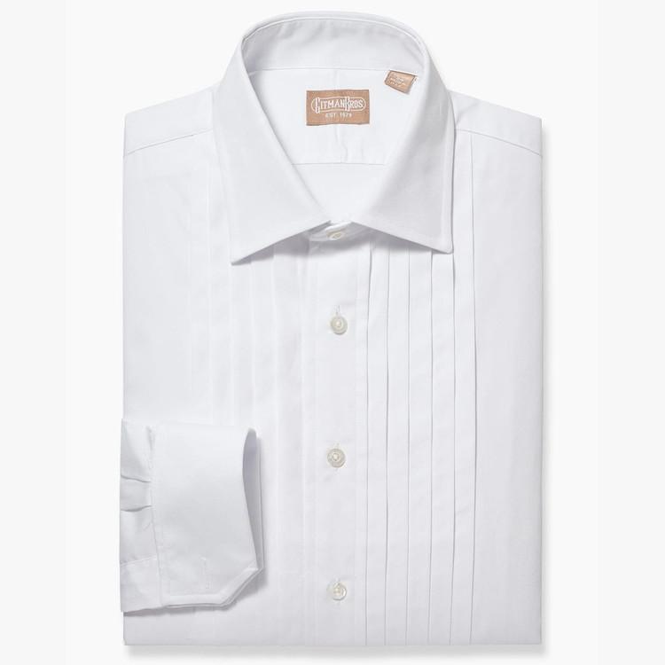 Five Pleat Spread Collar Formal Tuxedo Shirt by Gitman Brothers