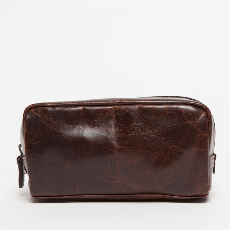 George Mini Dopp Kit in Brompton Brown by Moore & Giles