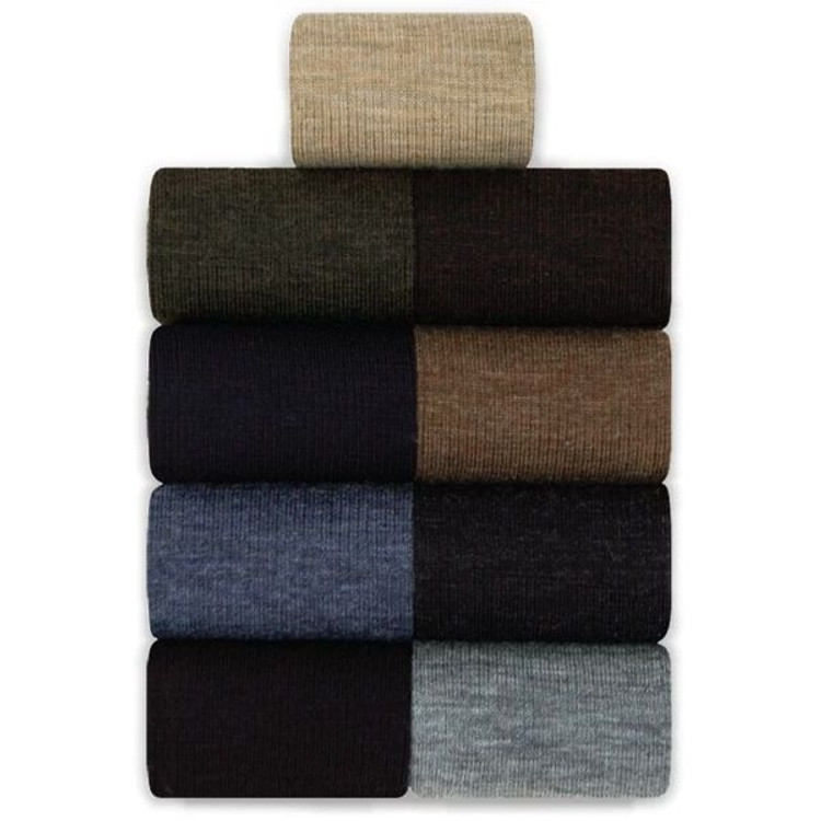 Midway 2x1 Rib Wool Socks in Mid-Calf (3 Pair) by Byford