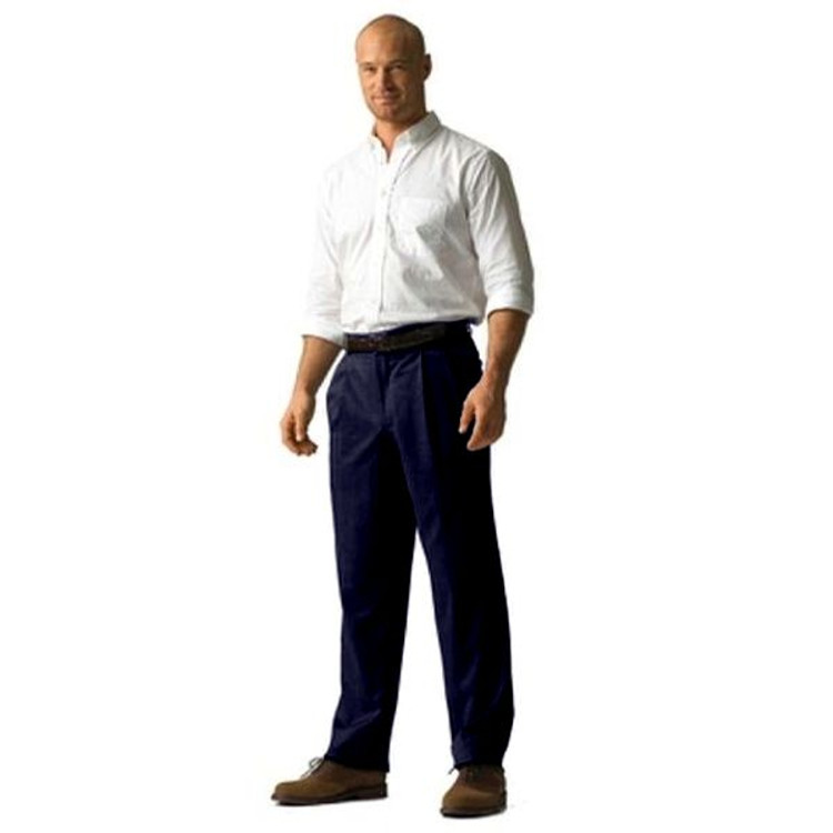 'Lanyard' Double Reverse Pleat Prime Poplin Trousers by Corbin