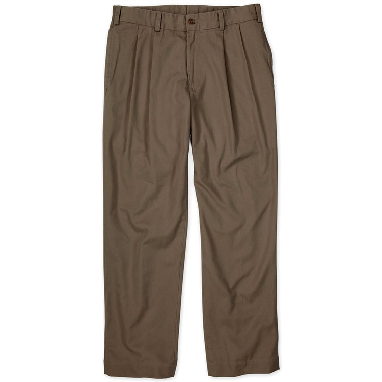Original Twill Pant - Model M2P Standard Fit Reverse Pleat in Mushroom by Bills Khakis
