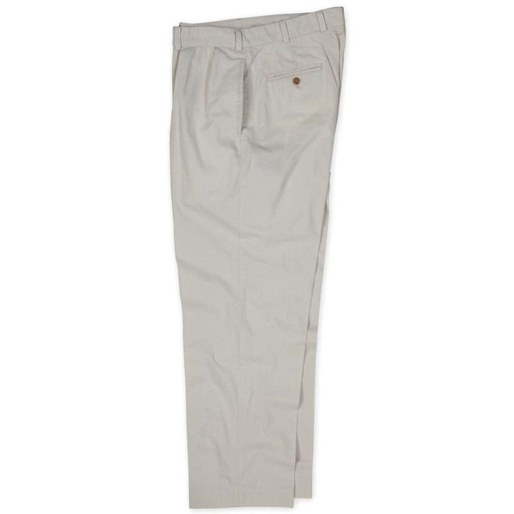 Lightweight Cotton Poplins - Model M1P Relaxed Fit Forward Pleat in Stone by Bills Khakis