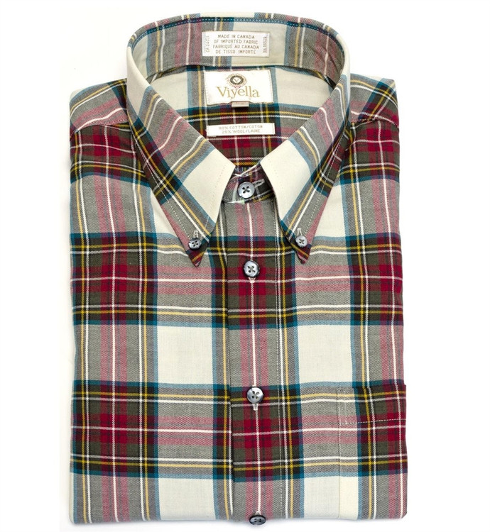 Dress Stewart Tartan Button-Down Shirt by Viyella
