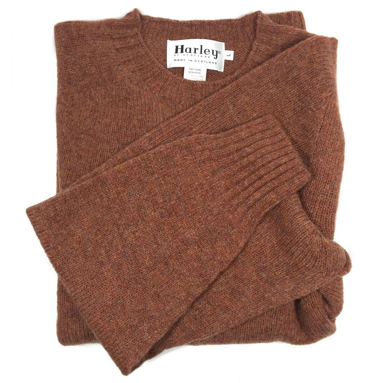 dae2d20288 Shetland Saddle Shoulder Crew Neck Sweater in Sienna (Size XX-Large) by Harley  of Scotland - Hansen s Clothing