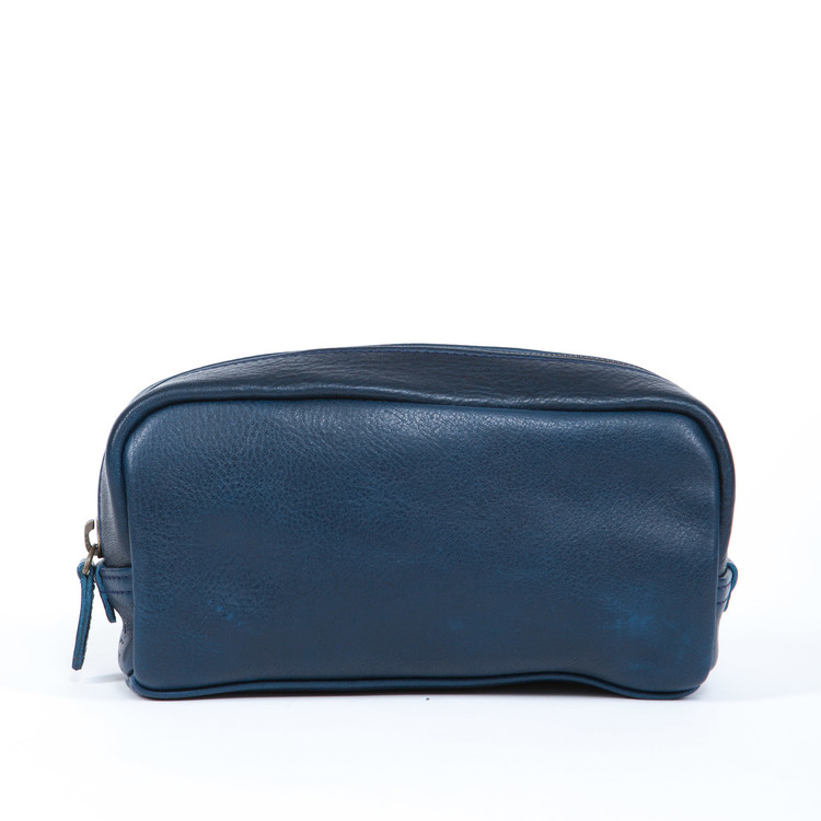 George Mini Dopp Kit in Titan Milled Navy by Moore & Giles
