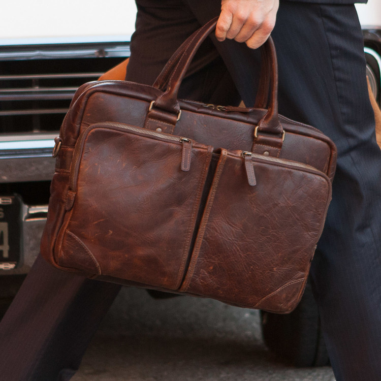 Haythe Commuter Bag in Baldwin Oak by Moore & Giles